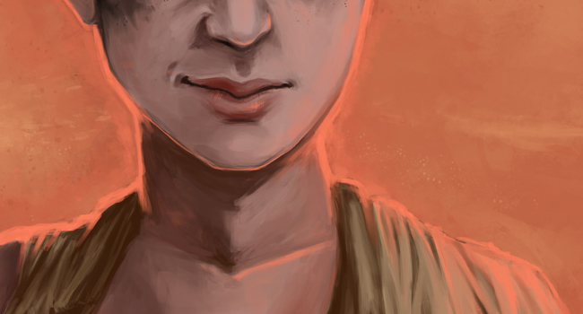 Digital painting of Furiosa from Mad Max