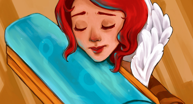 Digital painting of Red from the game Transistor